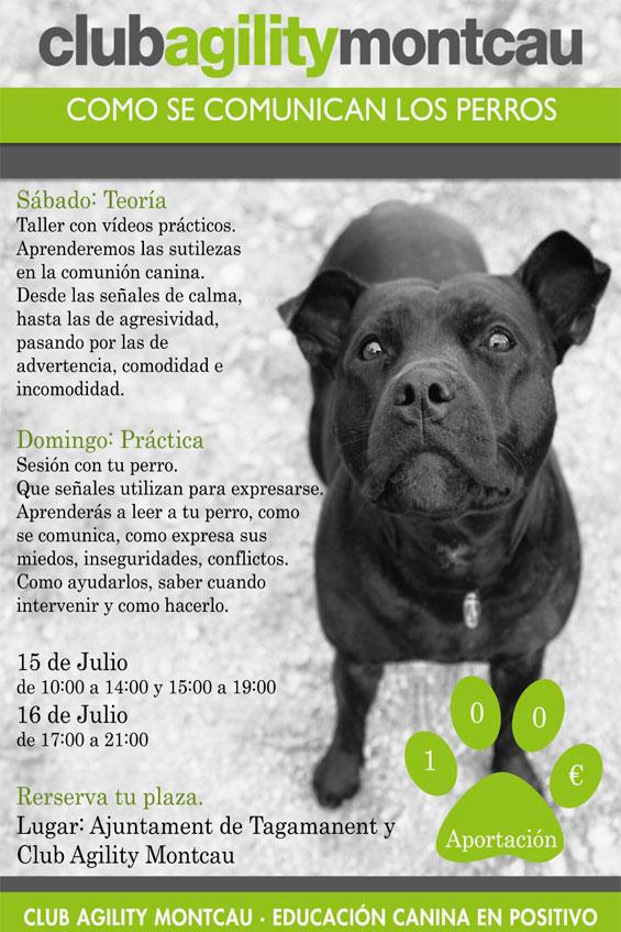 Cartel cómo se comunican los perros